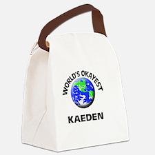 World's Okayest Kaeden Canvas Lunch Bag
