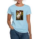 Windflowers / Poodle (BLk-ST) Women's Light T-Shir