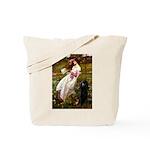 Windflowers / Poodle (BLk-ST) Tote Bag