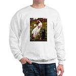 Windflowers / Poodle (BLk-ST) Sweatshirt