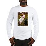 Windflowers / Poodle (BLk-ST) Long Sleeve T-Shirt