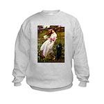 Windflowers / Poodle (BLk-ST) Kids Sweatshirt