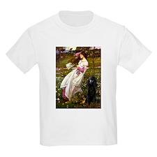 Windflowers / Poodle (BLk-ST) T-Shirt