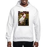 Windflowers / Poodle (BLk-ST) Hooded Sweatshirt