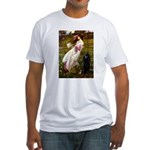Windflowers / Poodle (BLk-ST) Fitted T-Shirt