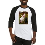 Windflowers / Poodle (BLk-ST) Baseball Jersey
