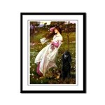 Windflowers / Poodle (BLk-ST) Framed Panel Print
