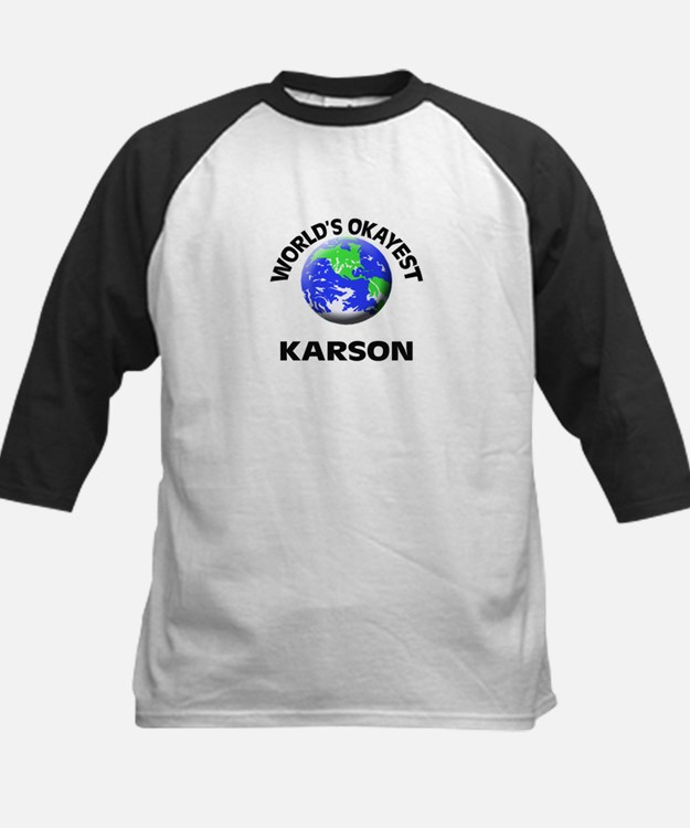 World's Okayest Karson Baseball Jersey