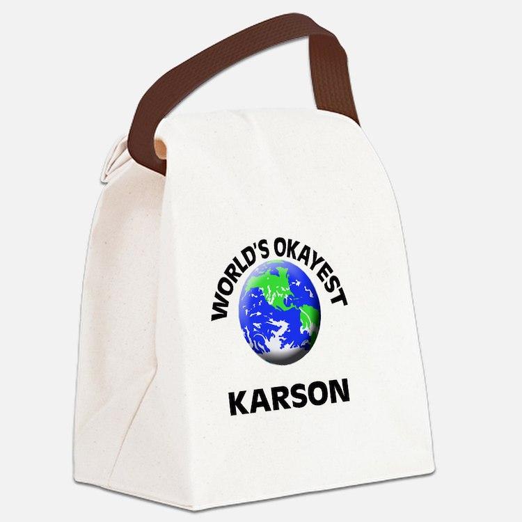 World's Okayest Karson Canvas Lunch Bag