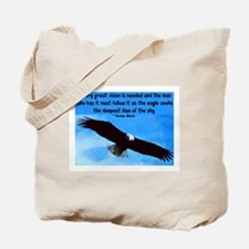 EAGLE QUOTE Tote Bag