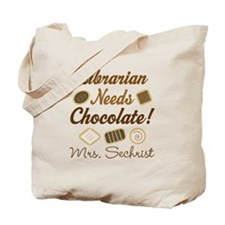 Librarian Funny Personalized Gift Tote Bag