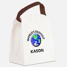 World's Okayest Kason Canvas Lunch Bag
