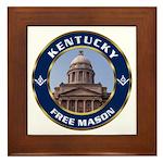 Kentucky Freemason Framed Tile