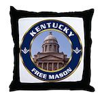 Kentucky Freemason Throw Pillow