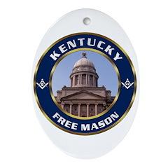Kentucky Freemason Oval Ornament