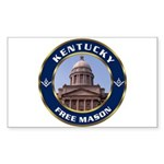 Kentucky Freemason Rectangle Sticker