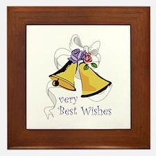 Best Wishes Framed Tile