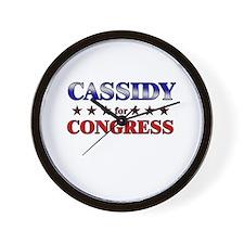 CASSIDY for congress Wall Clock