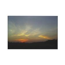 Sunset Rectangle Magnet