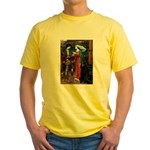 Tristan / Std Poodle(blk) Yellow T-Shirt