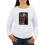 Tristan / Std Poodle(blk) Women's Long Sleeve T-Sh