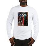 Tristan / Std Poodle(blk) Long Sleeve T-Shirt