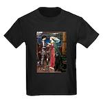 Tristan / Std Poodle(blk) Kids Dark T-Shirt