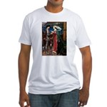Tristan / Std Poodle(blk) Fitted T-Shirt