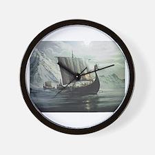 Viking Ship Wall Clock