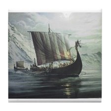 Viking Ship Tile Coaster