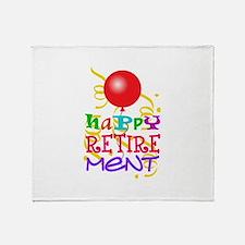 Happy Retirement Throw Blanket