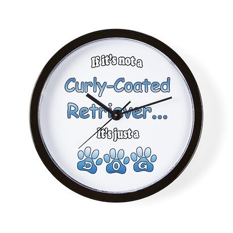 Curly-Coat Not Wall Clock