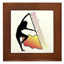 Colorguard Flag Framed Tile