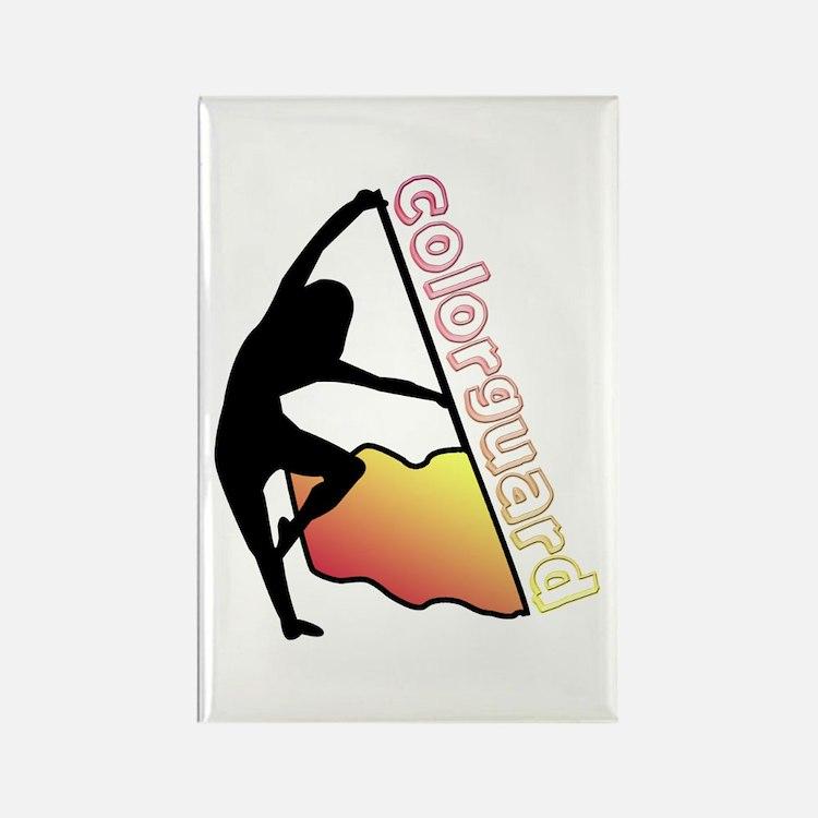 Colorguard Flag Rectangle Magnet