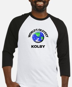 World's Okayest Kolby Baseball Jersey