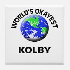 World's Okayest Kolby Tile Coaster