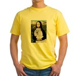 Mona / Std Poodle(w) Yellow T-Shirt