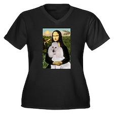 Mona / Std Poodle(w) Women's Plus Size V-Neck Dark
