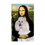 Mona / Std Poodle(w) Sticker (Rectangle)