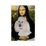 Mona / Std Poodle(w) Rectangle Magnet