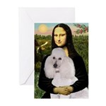Mona / Std Poodle(w) Greeting Cards (Pk of 20)