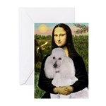 Mona / Std Poodle(w) Greeting Cards (Pk of 10)