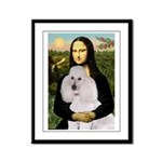 Mona / Std Poodle(w) Framed Panel Print