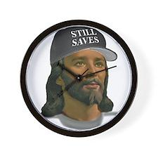 Jesus Still Saves (D Grey) Wall Clock