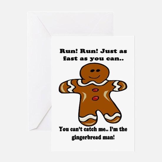Gingerbread Man Greeting Cards