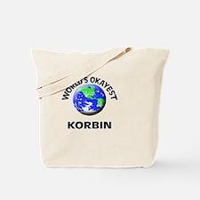 World's Okayest Korbin Tote Bag