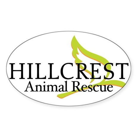 Hillcrest Animal Rescue Oval Sticker