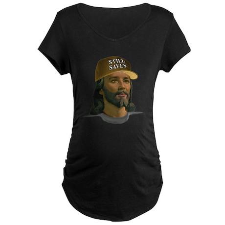 Jesus Still Saves (D Tan) Maternity Dark T-Shirt