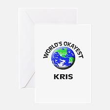 World's Okayest Kris Greeting Cards