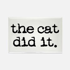 the cat did it Rectangle Magnet (100 pack)